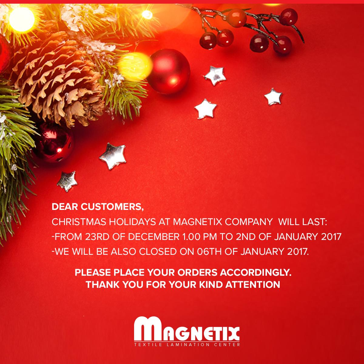 Christmas Break.Magnetix Centrum Laminatow Tekstylnych Christmas Break